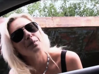 big boobs milf alena hitchhikes and gets fucked in public