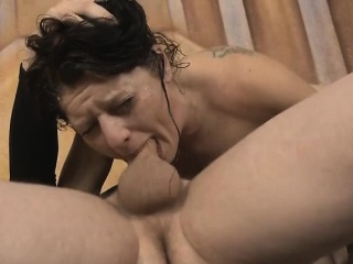 brunette whore fallon west getting head pushed down on dick
