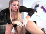 Domina enjoys punishing her boyfriends cock