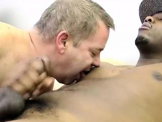 big daddy cant resist deepthroating that big black cock