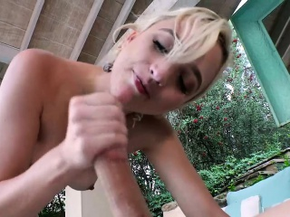 blonde eliza jane gets fucked by a spying neighbors big cock