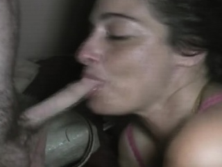brunette crack whore getting fucked and taking cumshot pov