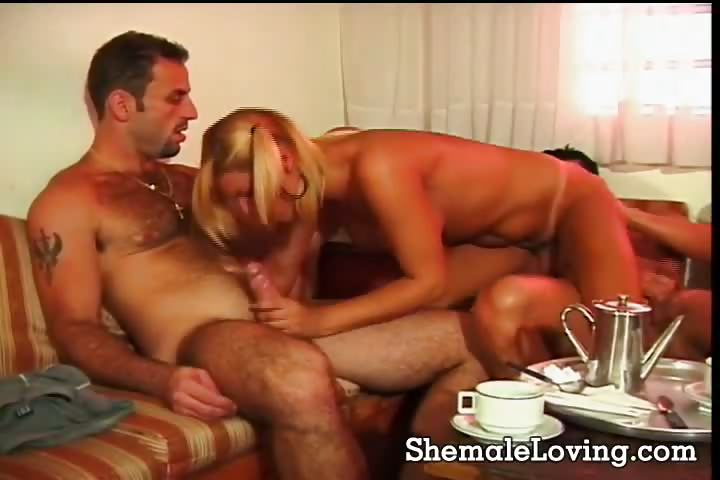 Porno Video of Lovely Shemale Enjoying A Threesome