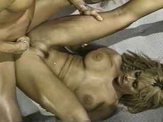 blonde with smaller hair gets her pussy plowed