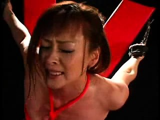 submissive asian girl with lovely tits is made to enjoy pur