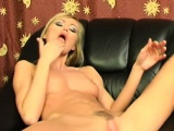 Amanda shoves her fingers to her pussy