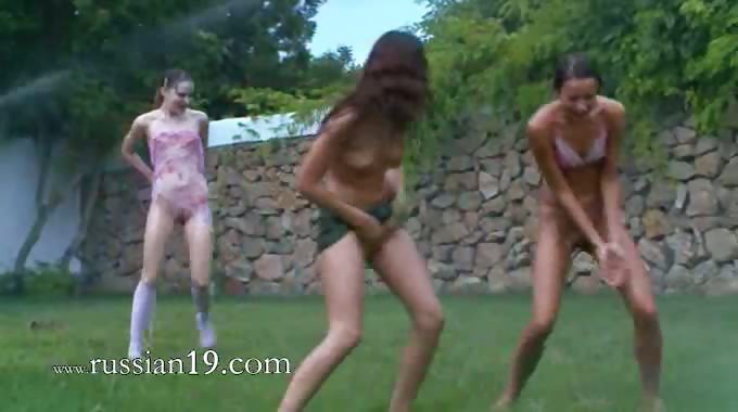 Porno Video of Russian Teens Watersports In The Garden