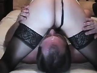 cuckold husband gets the cum