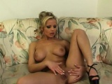 Danielle loves playing with her privates