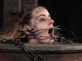 Petite whore restrained by her femdom master