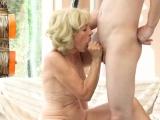 Cock gobbling grandma
