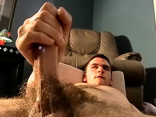 he gets turned on by his hairy friend and starts wanking