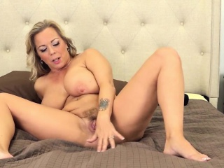 blonde milf amber loves to  fucked in front of her fans