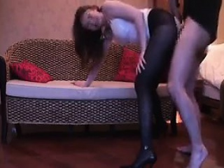 pantyhosed asian chick sucks a cock before getting rammed f