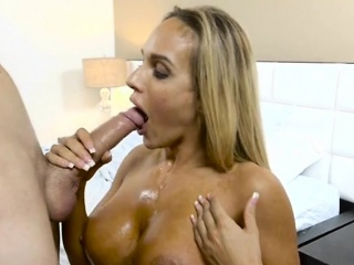 mature hottie tegan james enjoys big cock and jizz