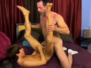 mike wraps his lips around kyler's uncut cock before the
