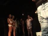 Stunning chicks dance around in the nude