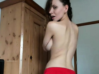 lustful brunette plays with her twat