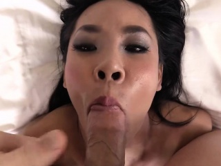 ladyboy gets bareback ass to mouth action in pov style