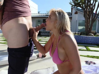 sexy mom katy teaches bella how to suck a huge dick