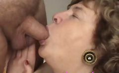 Lusty gran Nana Funk loves sucking on wh...