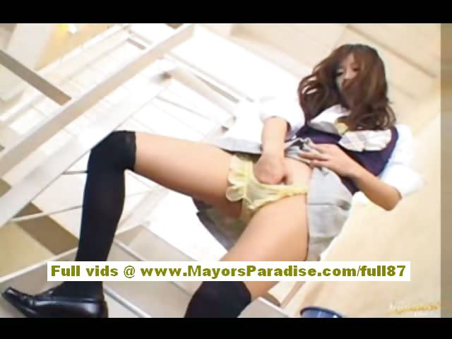 Porno Video of Miyu Hoshino Chinese Girl In School Uniform Rubs Her Wet Pussy