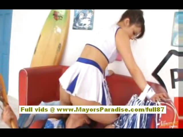 Porn Tube of Risa Tsukino Asian Girl In Cheerleader Gets Licked