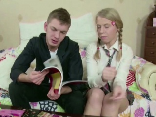 petite teen get her first fuck after school at homework
