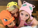 Hot Pokemon babes bangs with a handsome trainer
