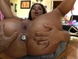 Butt plugged slut rubs