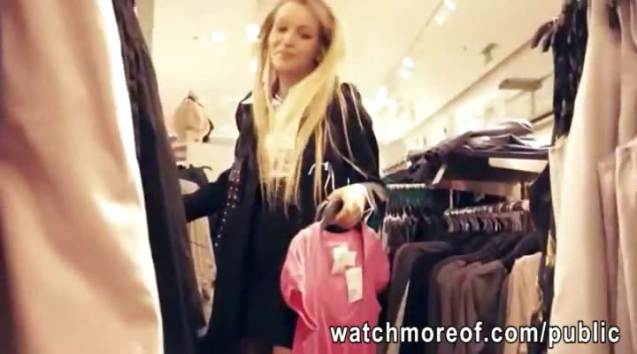 Porno Video of Pretty Real Amateur Blonde Chick Fucked Inside The Dressing Room For Cash