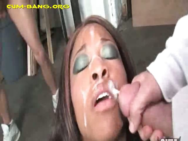 Porn Tube of White Bukkake After Gangbang