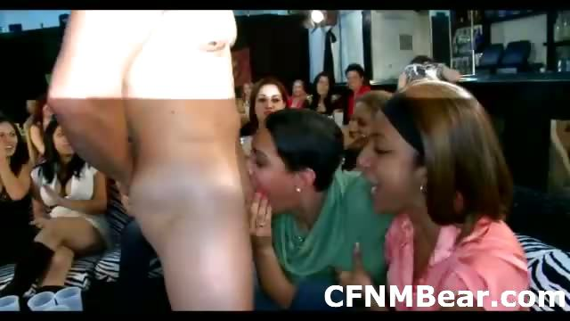 Porn Tube of Cfnm Amateur Fans Suck Male Stripper At Cfnm Party
