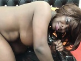 Zambian Dark beauty MILF with hot black squirting pussy