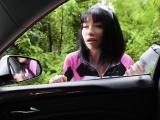 Tiny asian Rina hitchikes and banged