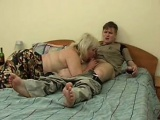 Pretty Amateur Mature with Young Boy