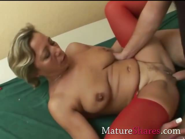 Porn Tube of Divorcee Gets Nailed In Red Nylon