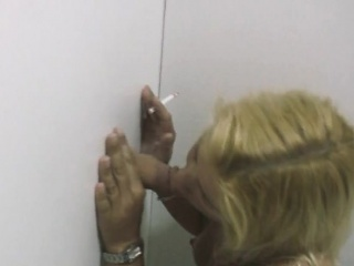 Amateur Blonde Smoking And Sucking Dicks In A Glory Hole