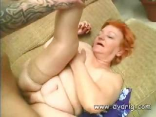 Porno Video of Young Stud Fucks His Granny
