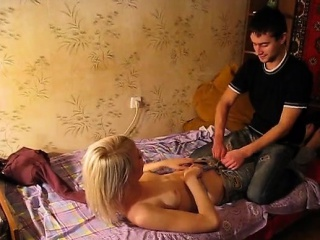 Beautiful Horny Teen Gets On Her Knees And Gives Him A Fellatio