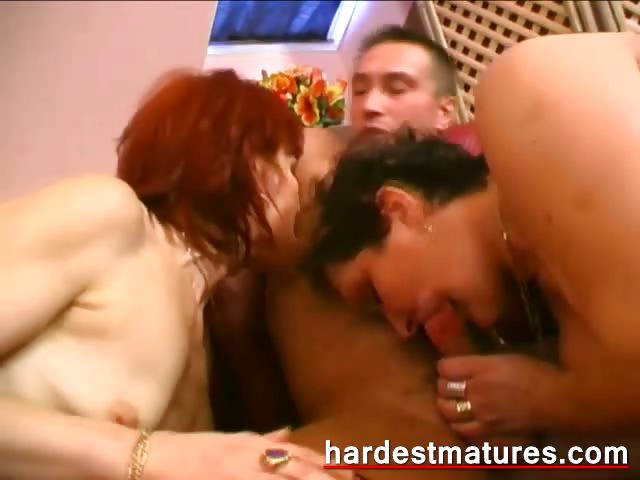 Porno Video of Redhead Granny Sharing A Fresh Cock