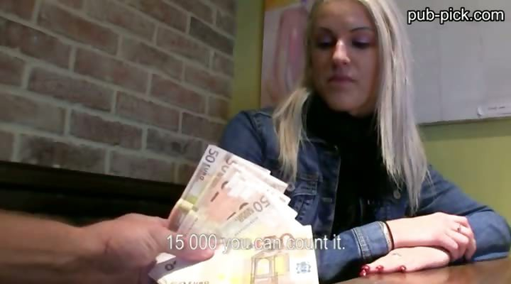 Porn Tube of Pretty Euro Chick Fucked And Sperm Showered Inside The Public Toilet For Cash