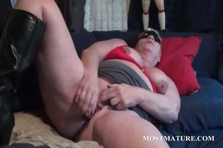 Porn Tube of Excited Mom Pleasing Her Mature Pussy