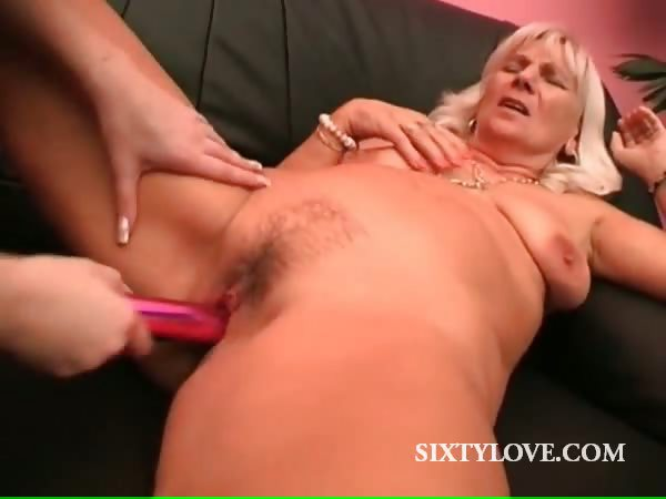 Porn Tube of Lesbo Mature Gets Orgasmic Pussy Vibe