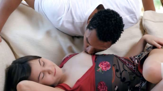 Porno Video of Charming Interracial Teen Wow Couple