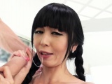 Asian student gets huge dick in the ass
