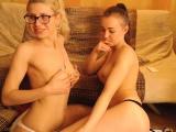 Sexy Lesbian striptease