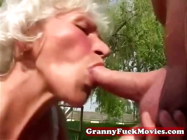 Porn Tube of Dirty Grandma Sucking