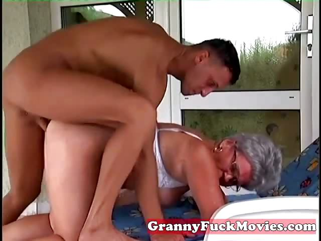 Porn Tube of Outdoor Fucking Grandma