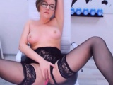 Big Ass Teacher In Black lingerie Enjoys Pussy Play